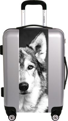 Ugobags Sascha By Compassion 22 inch Luggage Silver - Ugobags Hardside Checked