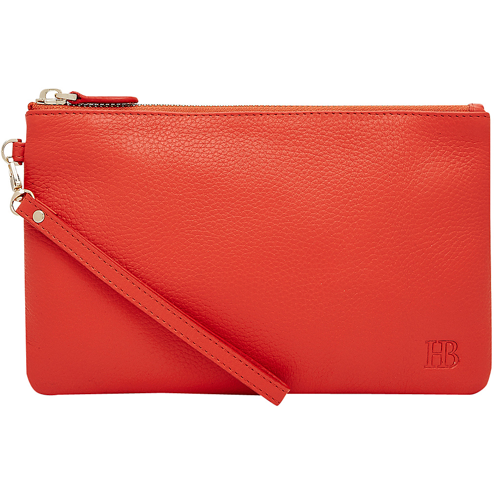 HButler Mighty Purse Cell Charging Wristlet Coral HButler Leather Handbags