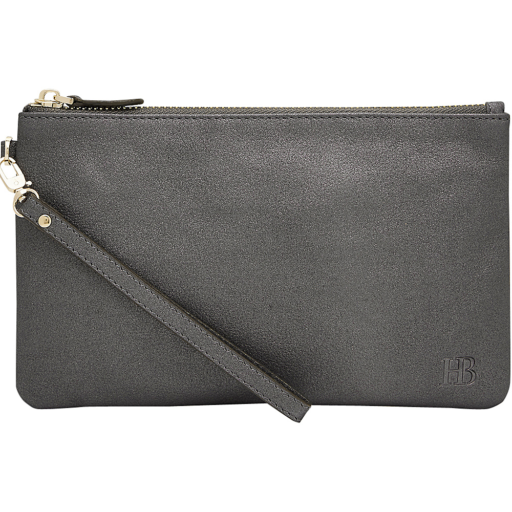 HButler Mighty Purse Cell Charging Wristlet Charcoal Sparkle HButler Leather Handbags