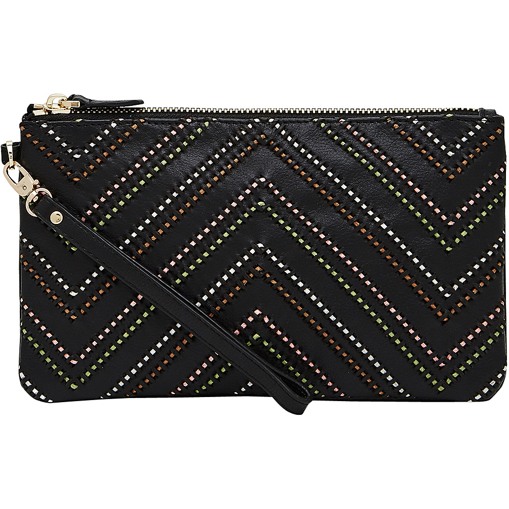 HButler Mighty Purse Cell Charging Wristlet Tribal Black HButler Leather Handbags