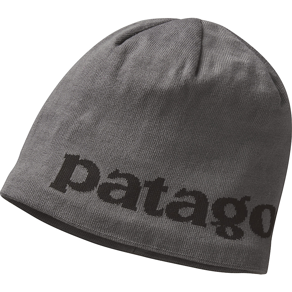 Patagonia Lined Beanie One Size - Logo Belwe: Forge Grey - Patagonia Hats/Gloves/Scarves - Fashion Accessories, Hats/Gloves/Scarves