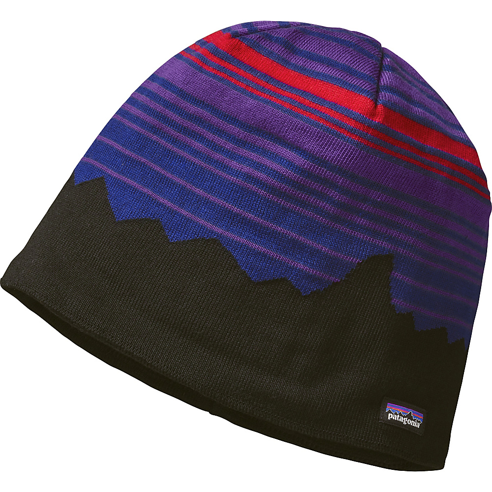 Patagonia Lined Beanie One Size - Vintage Fitz Roy: Harvest Moon Blue - Patagonia Hats/Gloves/Scarves - Fashion Accessories, Hats/Gloves/Scarves