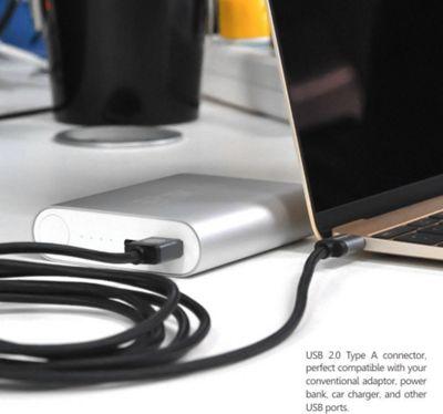Rhino USB Type C Male to USB Type A 3 meter Black - Rhino Electronic Accessories