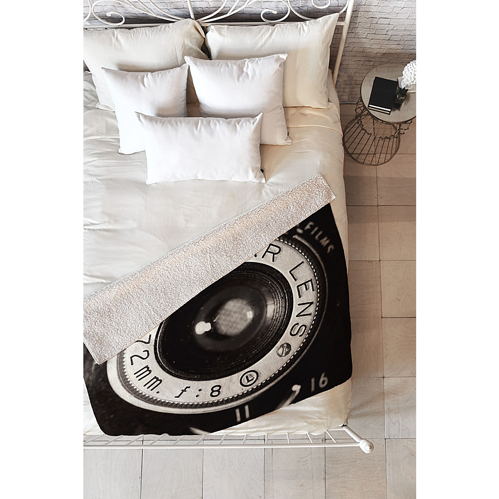 DENY Designs Maybe Sparrow Photography Sherpa Fleece Blanket Vintage Black Vintage Kodak DENY Designs Travel Pillows Blankets