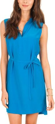 Elaine Turner Jenna Shirt Dress L - Mediterranean - Elaine Turner Women's Apparel