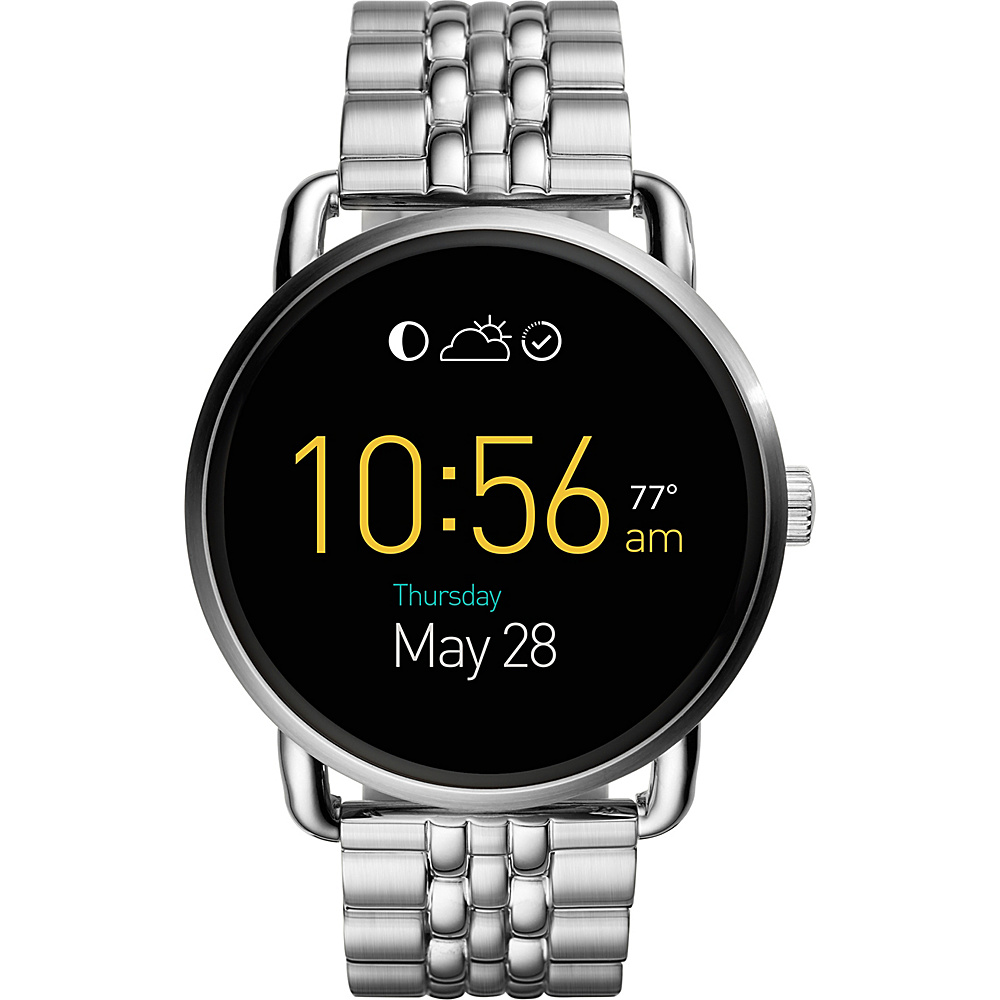 Fossil Q Wander Stainless Steel Touchscreen Smartwatch Silver - Fossil Wearable Technology - Technology, Wearable Technology