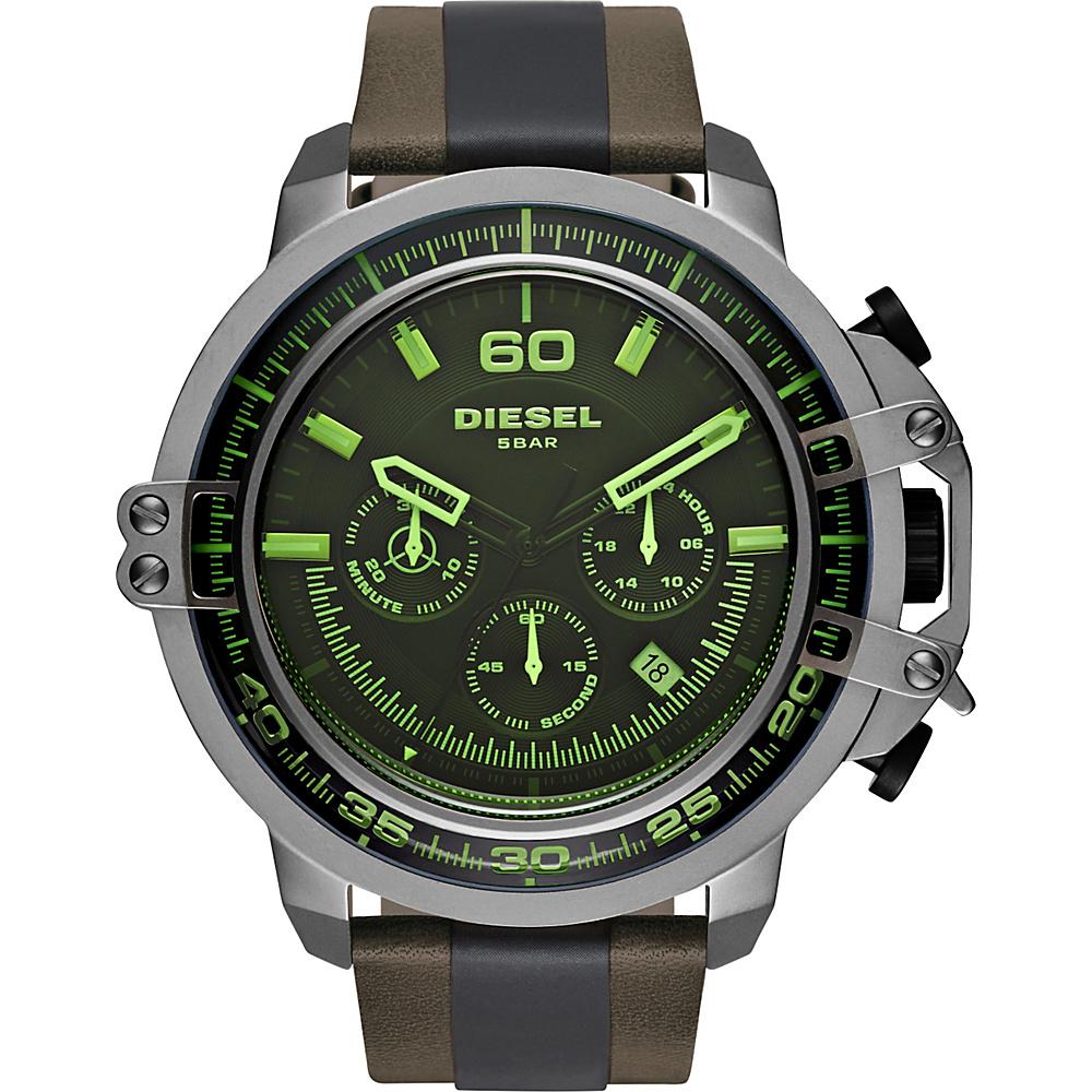 Diesel Watches Deadeye Leather Watch Brown - Diesel Watches Watches