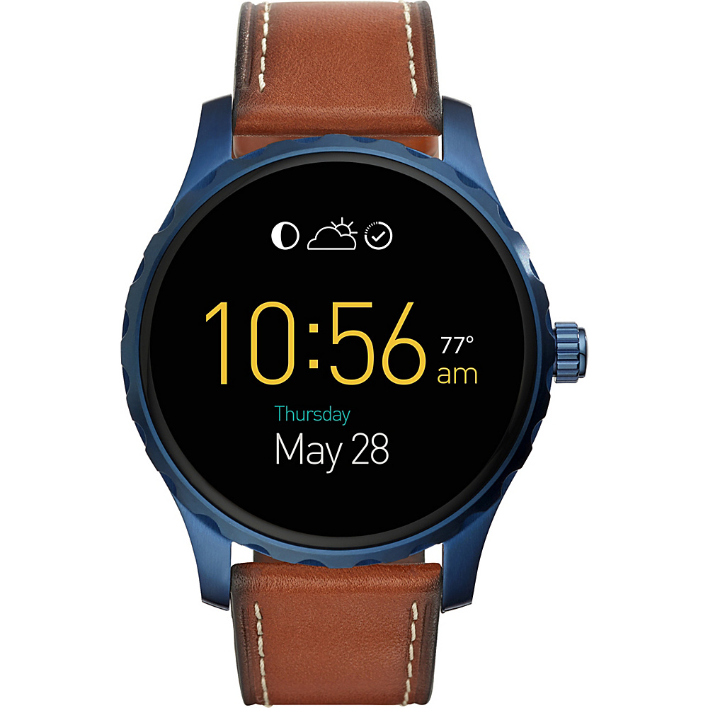 Fossil Q Marshal Display Leather Touchscreen Smartwatch Brown - Fossil Wearable Technology - Technology, Wearable Technology