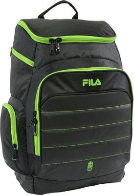 Fila Assist Sports Ball Capacity Laptop Backpack Black/Neon Green - Fila Everyday Backpacks