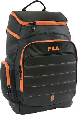 Fila Assist Sports Ball Capacity Laptop Backpack Black/Orange - Fila Everyday Backpacks