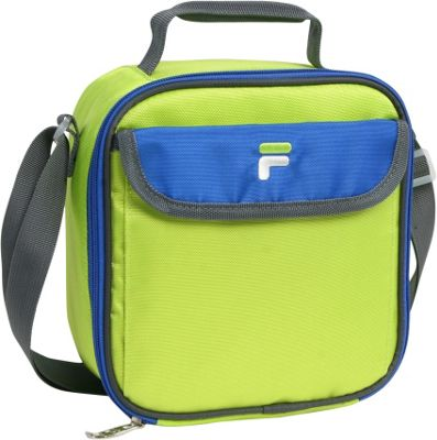 Fila Siesta Insulated Lunch Bag Lime/Blue - Fila Travel Coolers