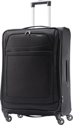 American Tourister iLite Max Spinner 25 Black - American Tourister Softside Checked