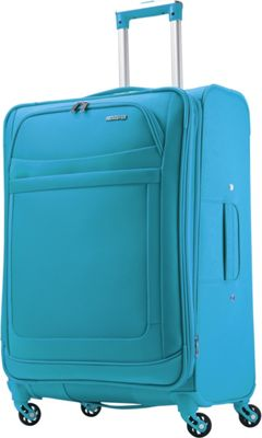 American Tourister iLite Max Spinner 25 Light Blue - American Tourister Softside Checked