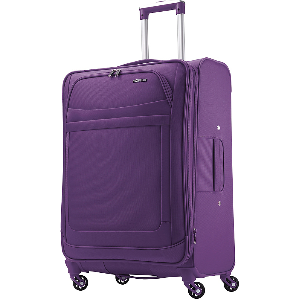 American Tourister iLite Max Spinner 25 Purple American Tourister Softside Checked