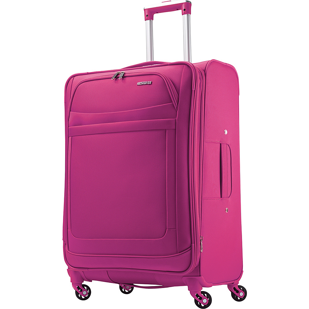 American Tourister iLite Max Spinner 25 Raspberry - American Tourister Softside Checked