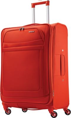 American Tourister iLite Max Spinner 25 Tangerine - American Tourister Softside Checked