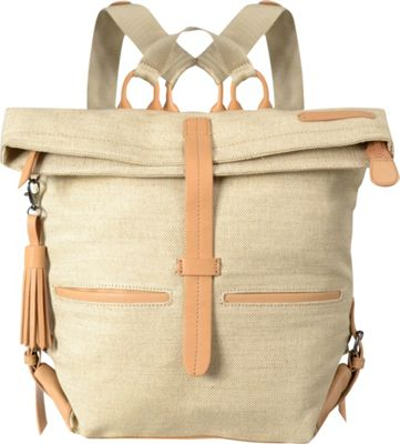 Sherpani Amelia Everyday Jute and Leather Backpack Canvas - Sherpani Everyday Backpacks