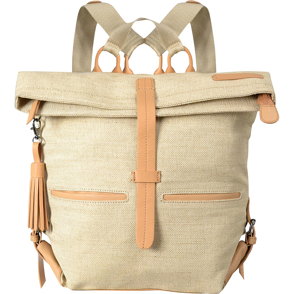 Sherpani Amelia Everyday Jute and Leather Backpack Canvas Sherpani Everyday Backpacks