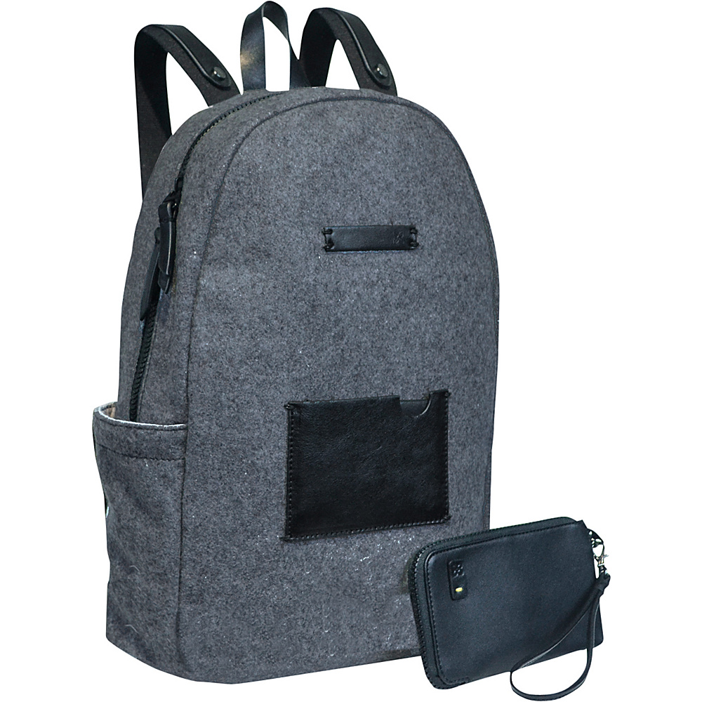 Sherpani Indie Laptop Backpack Boiled Wool Slate Sherpani Business Laptop Backpacks