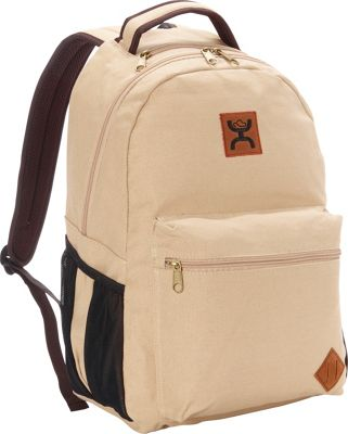 Hooey Original Canvas Laptop Backpack Tan - Hooey Business & Laptop Backpacks