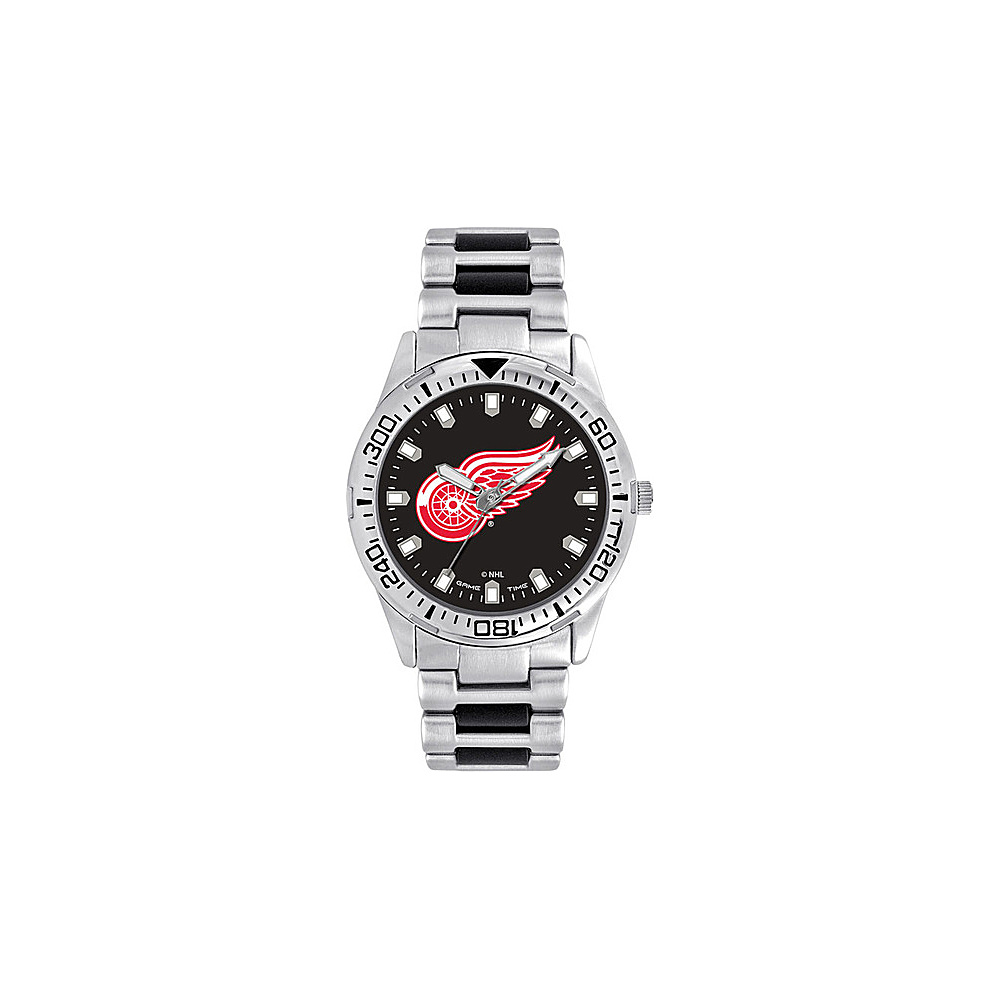 Game Time Mens Heavy Hitter- NHL Watch Detroit Red Wings - Game Time Watches - Fashion Accessories, Watches