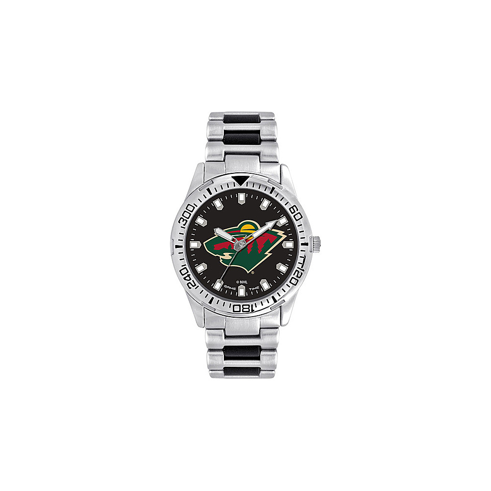 Game Time Mens Heavy Hitter- NHL Watch Minnesota Wild - Game Time Watches - Fashion Accessories, Watches
