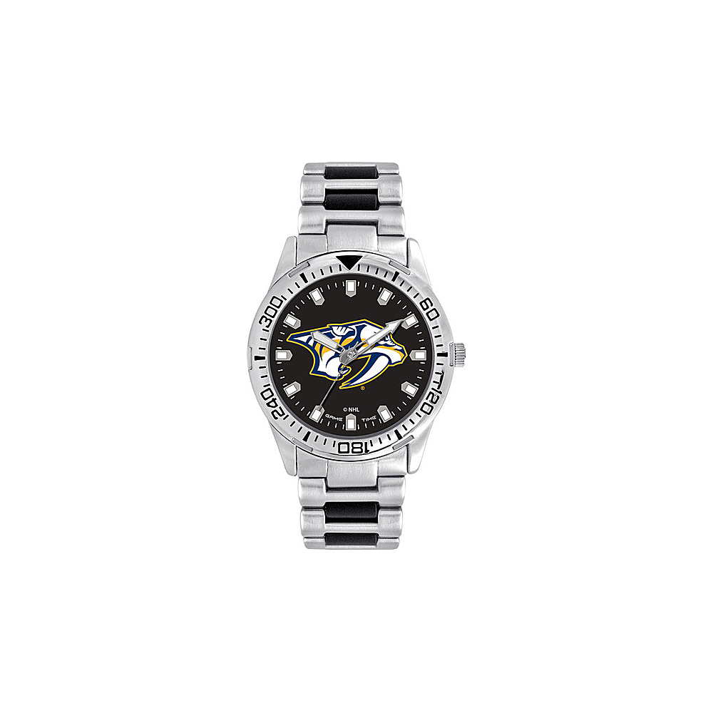 Game Time Mens Heavy Hitter- NHL Watch Nashville Predators - Game Time Watches - Fashion Accessories, Watches