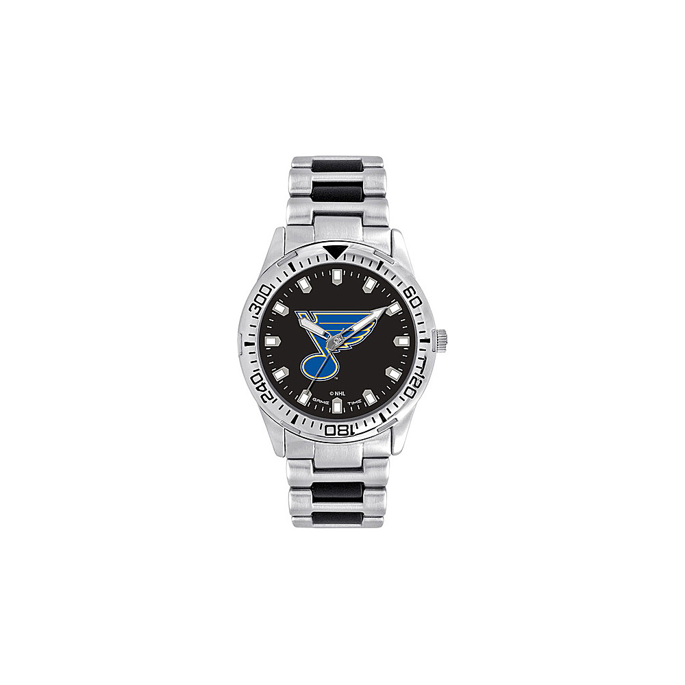 Game Time Mens Heavy Hitter- NHL Watch St Louis Blues - Game Time Watches - Fashion Accessories, Watches