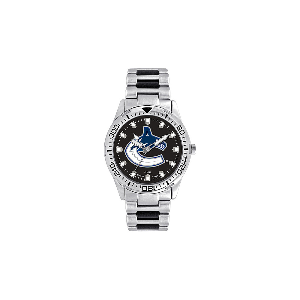 Game Time Mens Heavy Hitter- NHL Watch Vancouver Canucks - Game Time Watches - Fashion Accessories, Watches