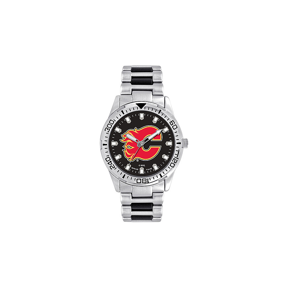 Game Time Mens Heavy Hitter- NHL Watch Calgary Flames - Game Time Watches - Fashion Accessories, Watches