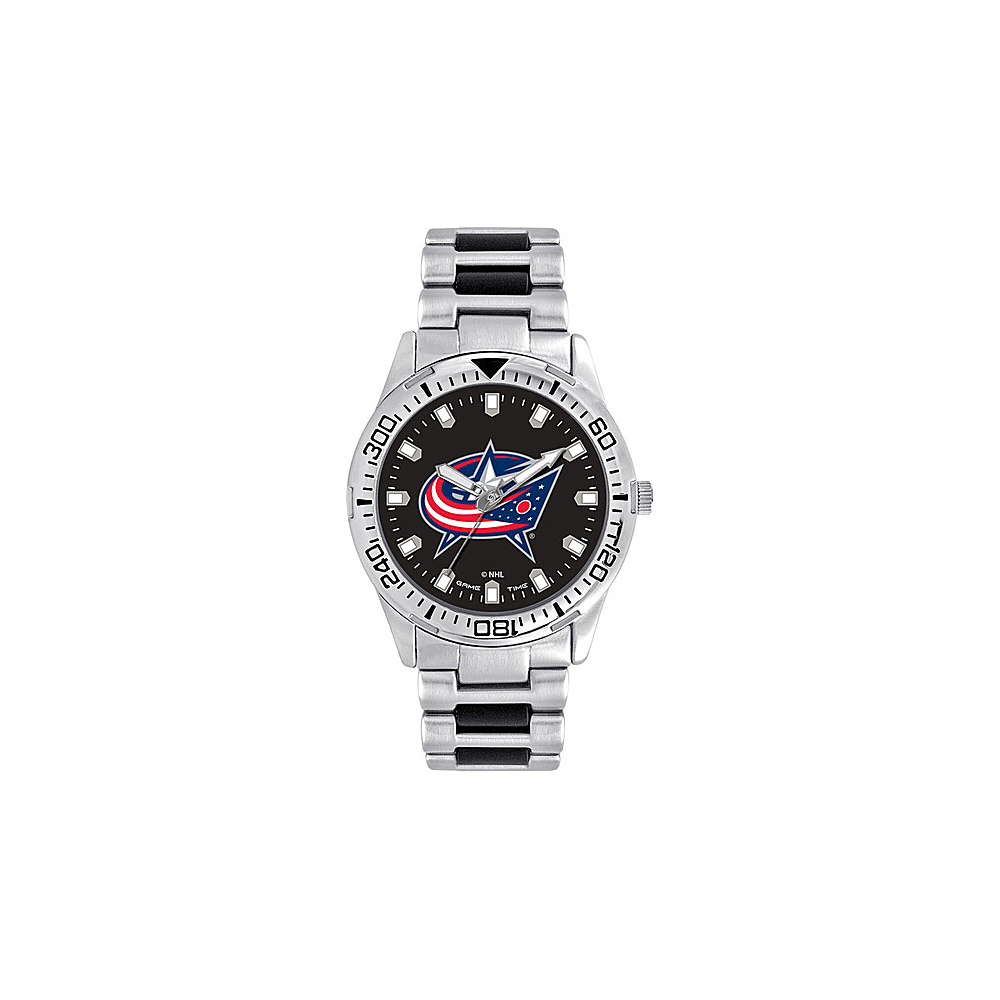 Game Time Mens Heavy Hitter- NHL Watch Columbus Blue Jackets - Game Time Watches - Fashion Accessories, Watches