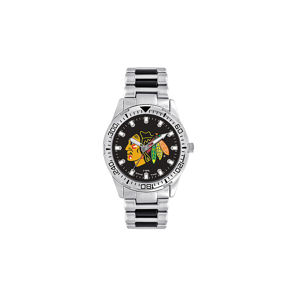 Game Time Mens Heavy Hitter- NHL Watch Chicago Blackhawks - Game Time Watches - Fashion Accessories, Watches
