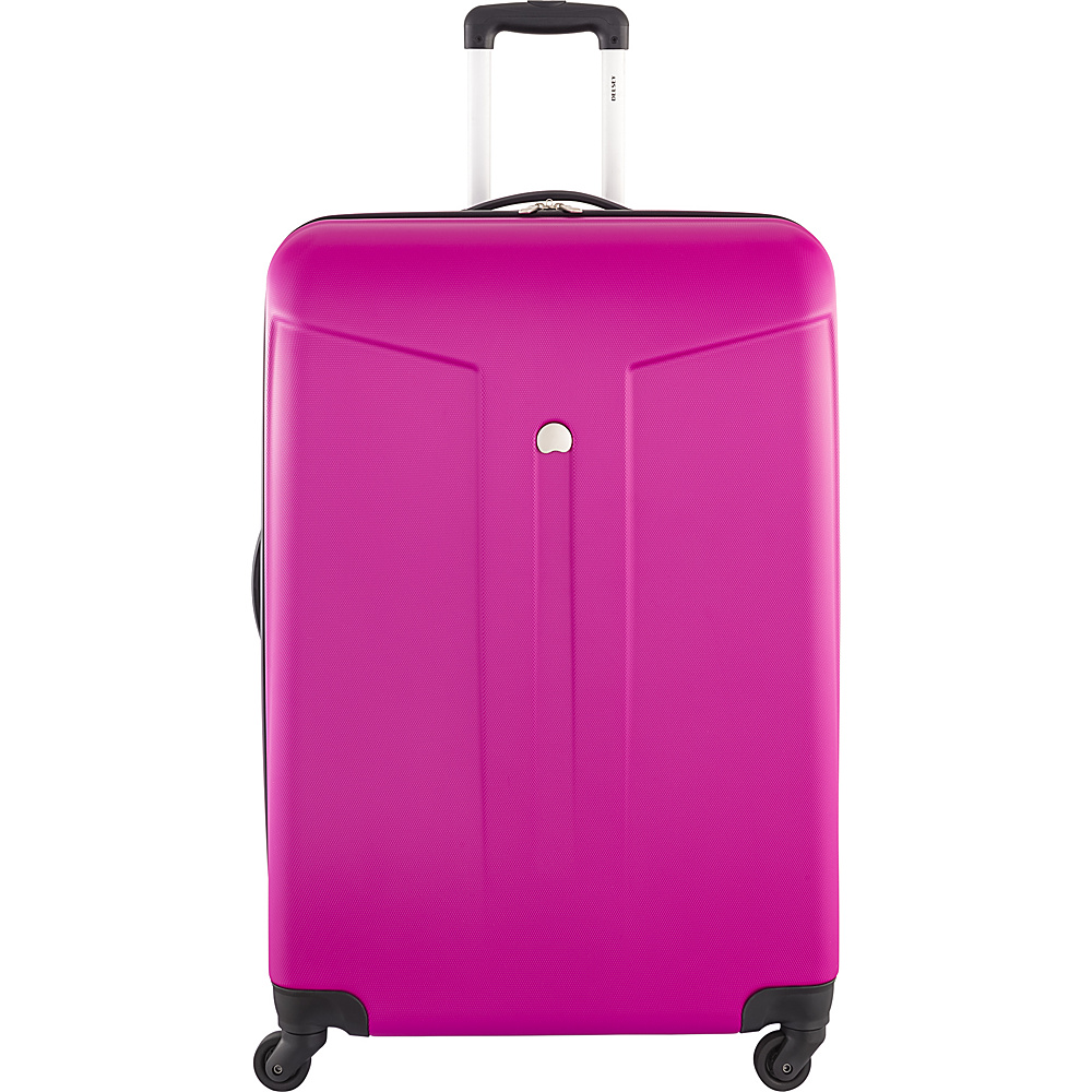 Delsey Comte 28 Expandable Hardside 4 Wheel Spinner Fuchsia Delsey Hardside Checked