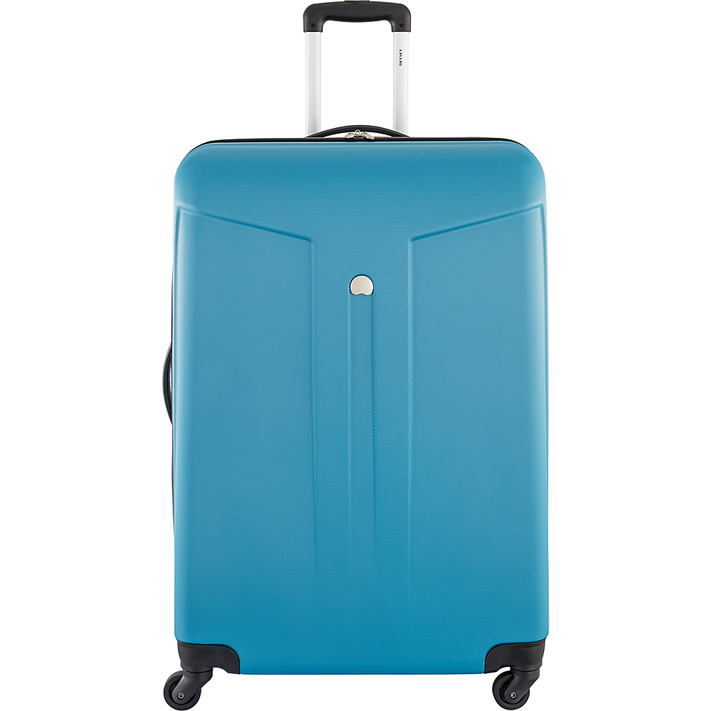 Delsey Comte 28 Expandable Hardside 4 Wheel Spinner Teal Delsey Hardside Checked