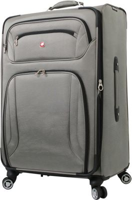 Wenger Travel Gear Zurich 28 inch Spinner Pewter - Wenger Travel Gear Softside Checked