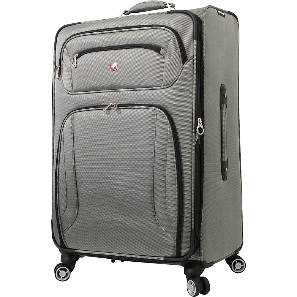 "Wenger Travel Gear Zurich 28"" Spinner Pewter - Wenger Travel Gear Softside Checked"