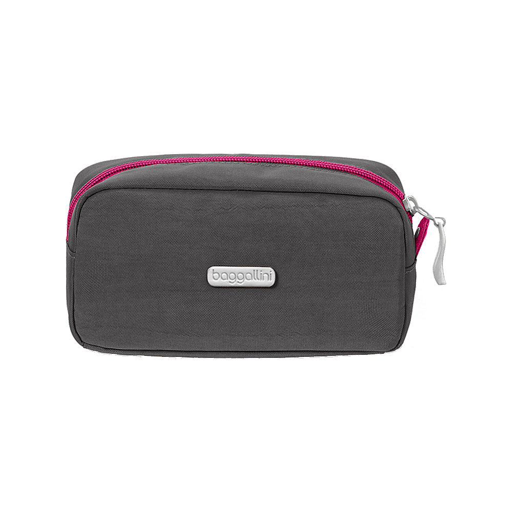 baggallini Square Cosmetic Case - Retired Colors Charcoal/Fuchsia - baggallini Womens SLG Other - Women's SLG, Women's SLG Other