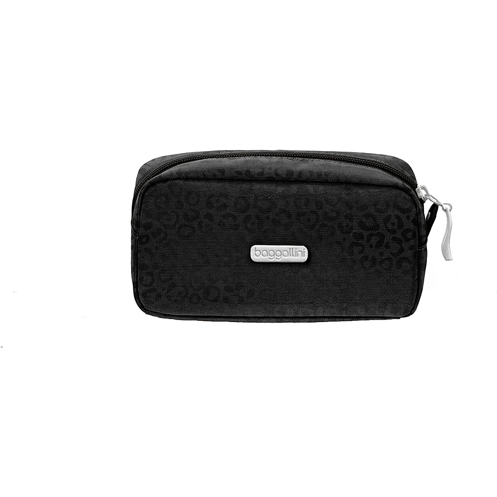 baggallini Square Cosmetic Case - Retired Colors Black/Cheetah - baggallini Womens SLG Other - Women's SLG, Women's SLG Other