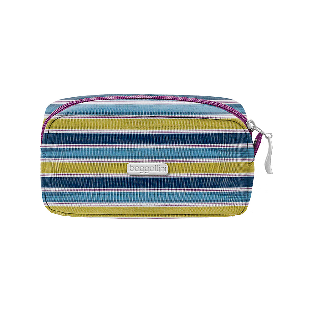 baggallini Square Cosmetic Case - Retired Colors Tropical Stripe - baggallini Womens SLG Other - Women's SLG, Women's SLG Other
