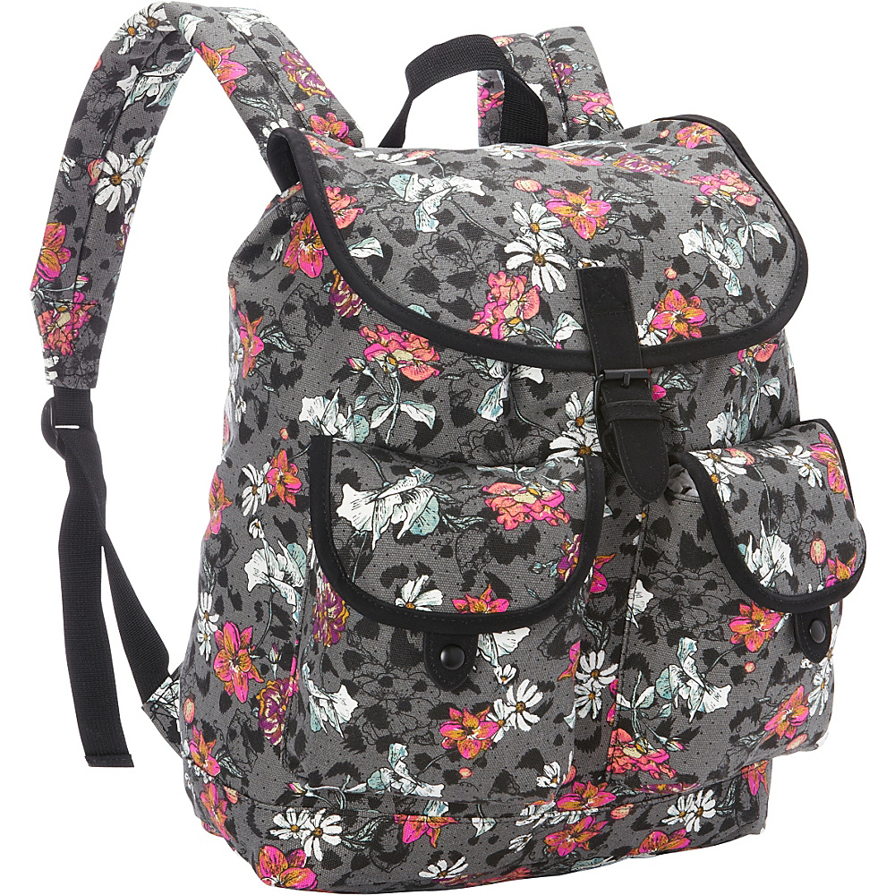 Dickies Gypsy Backpack FLORAL CHEETAH STAMP Dickies Everyday Backpacks
