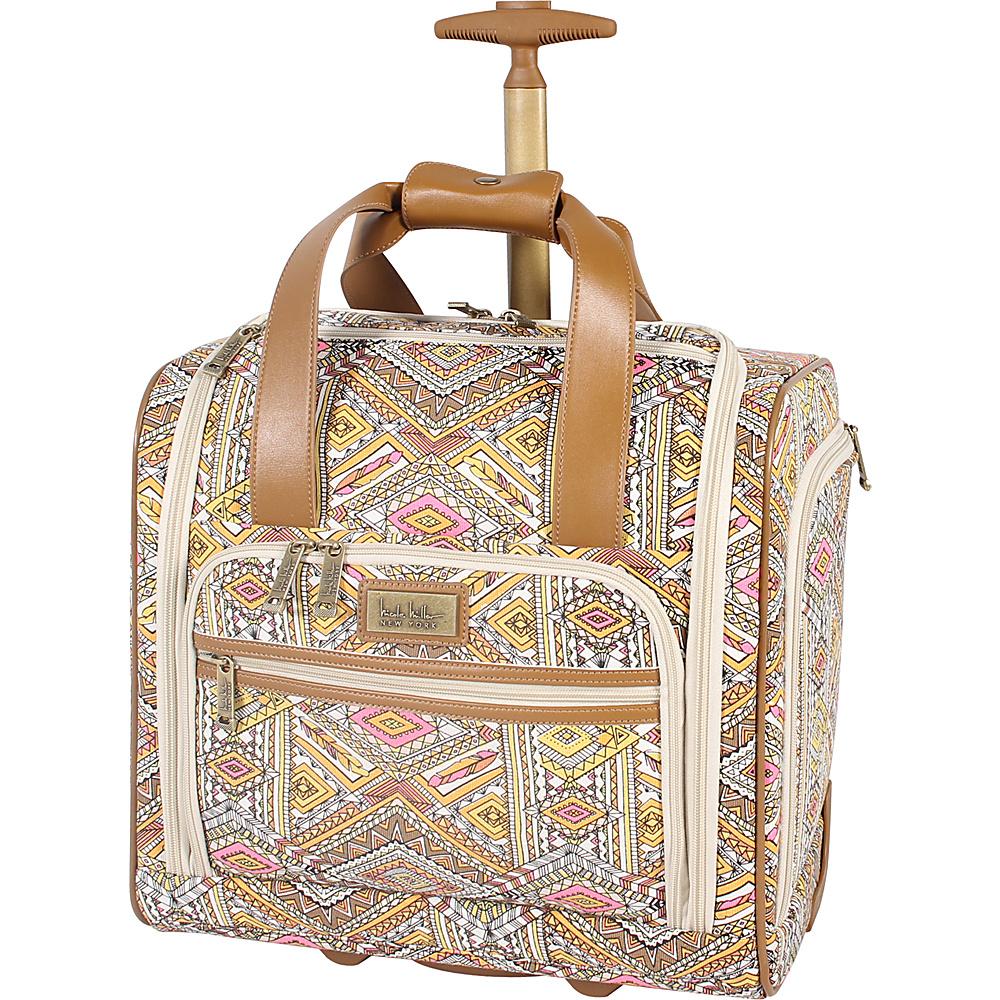 Nicole Miller NY Luggage Sedona Wheeled Under Seat Bag Yellow - Nicole Miller NY Luggage Softside Carry-On
