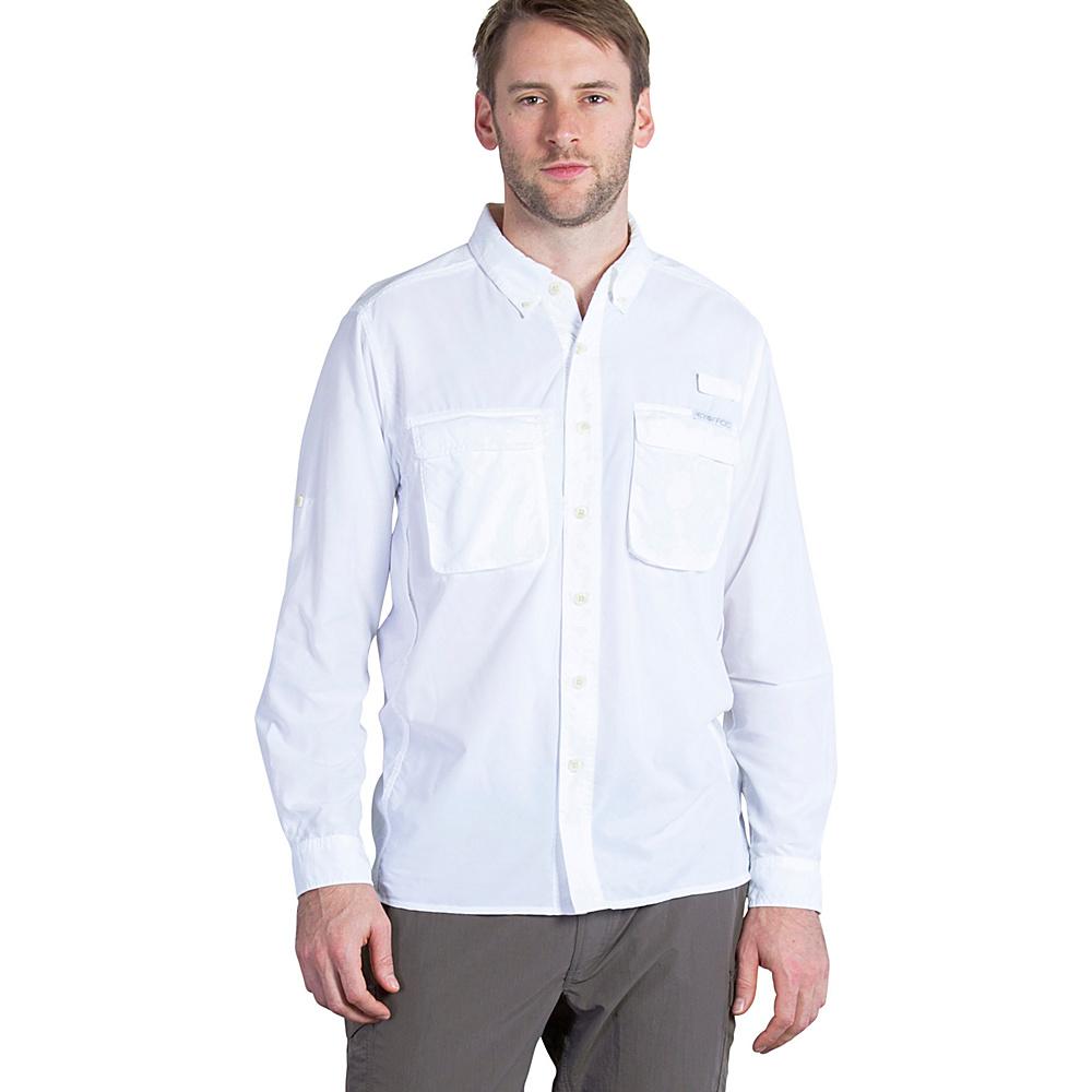 ExOfficio Mens Air Strip Long Sleeve Shirt 2XL - White - ExOfficio Womens Apparel - Apparel & Footwear, Women's Apparel