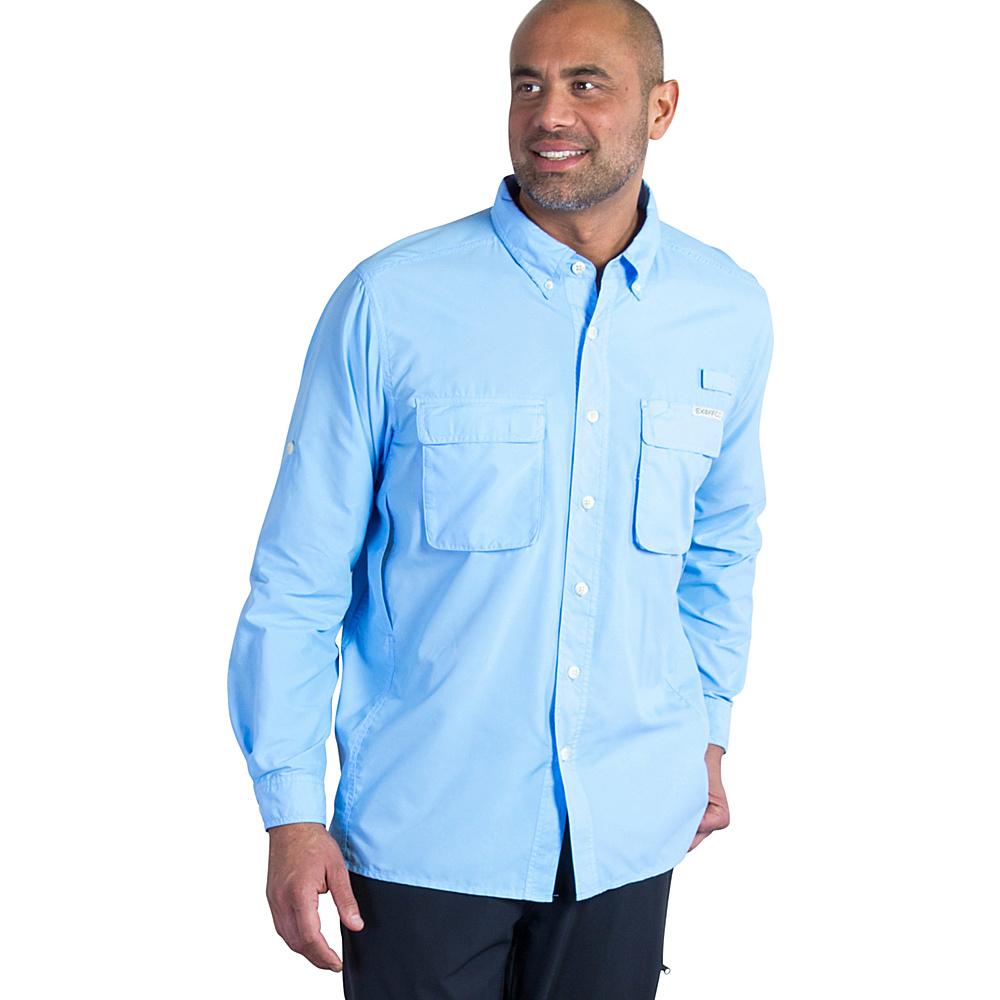 ExOfficio Mens Air Strip Long Sleeve Shirt 2XL - Light Lapis - ExOfficio Womens Apparel - Apparel & Footwear, Women's Apparel