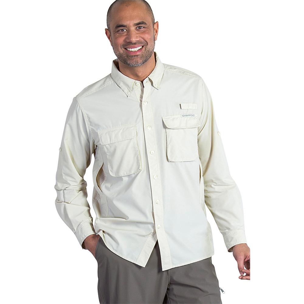 ExOfficio Mens Air Strip Long Sleeve Shirt S - Bone - ExOfficio Womens Apparel - Apparel & Footwear, Women's Apparel