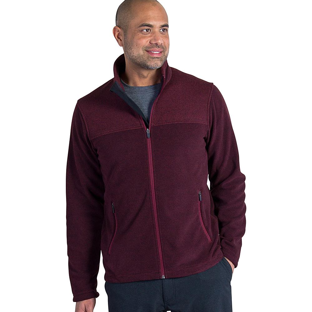 ExOfficio Mens Vergio Full Zip Fleece Jacket S - Claret - ExOfficio Mens Apparel - Apparel & Footwear, Men's Apparel