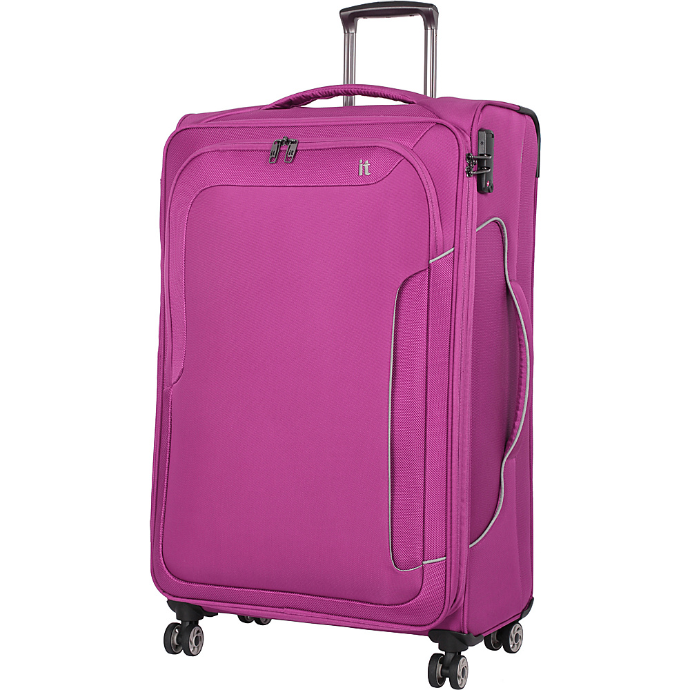 it luggage Amsterdam III 8 Wheel 31.3 Inch Spinner Magenta Haze it luggage Softside Checked