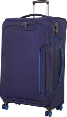 it luggage Amsterdam III 8 Wheel 31.3 Inch Spinner Evening Blue - it luggage Softside Checked
