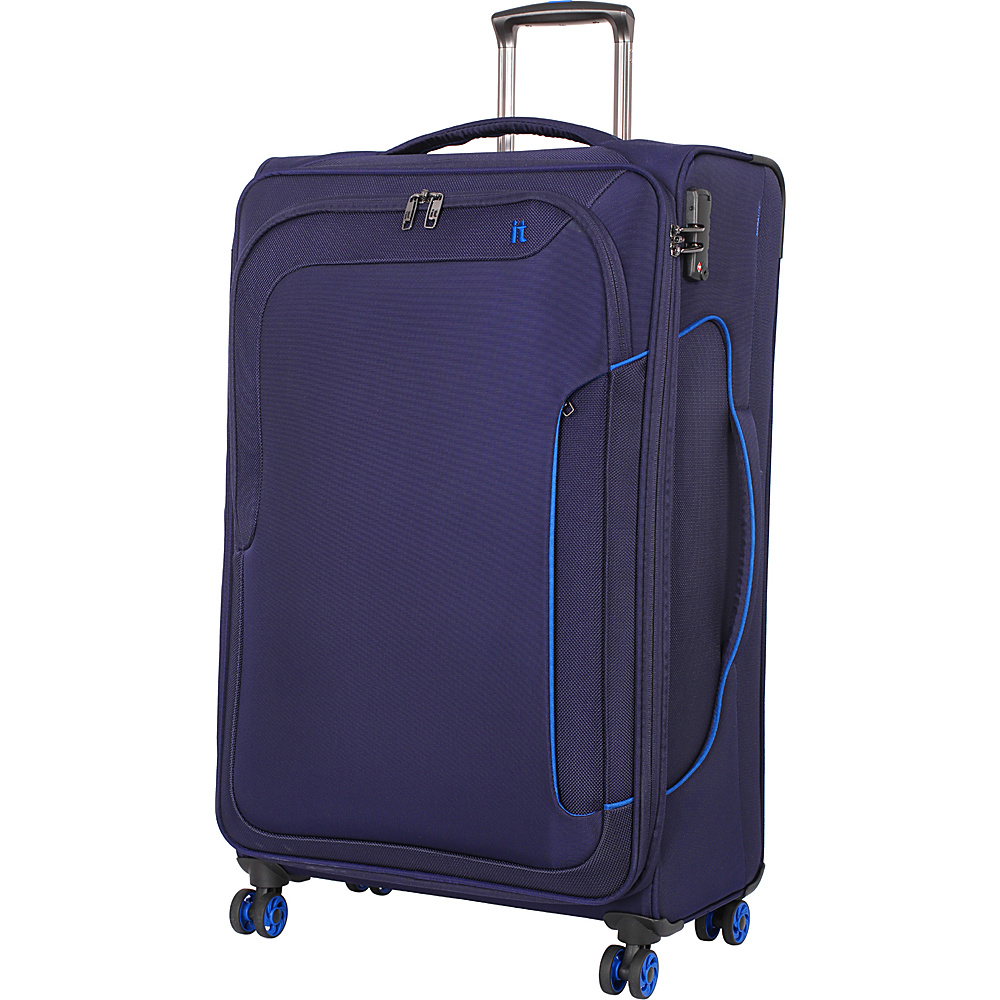 it luggage Amsterdam III 8 Wheel 31.3 Inch Spinner Evening Blue it luggage Softside Checked