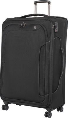it luggage Amsterdam III 8 Wheel 31.3 Inch Spinner Black - it luggage Softside Checked