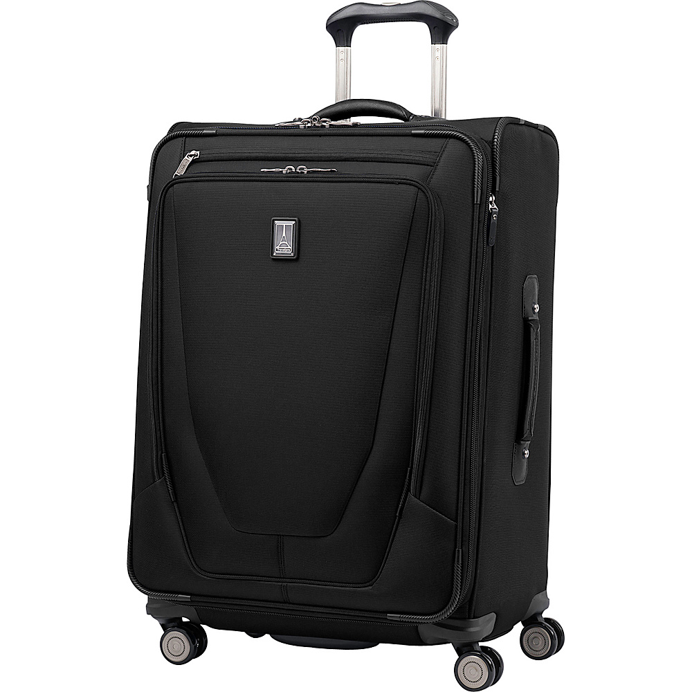 "Travelpro Crew 11 25"" Expandable Spinner Black - Travelpro Softside Checked"